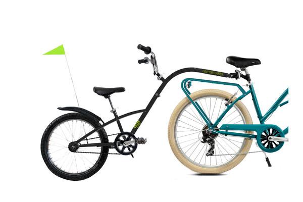 location de Vélo Suiveur enfant à Seignosse, Capbreton, Hossegor, dans les landes (40) Jerry Bike Rental